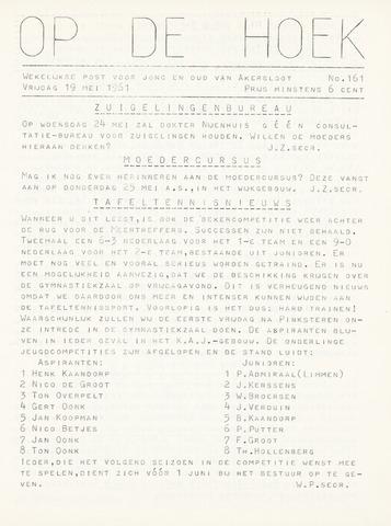 Op De Hoek, weekblad voor Akersloot 1961-05-19