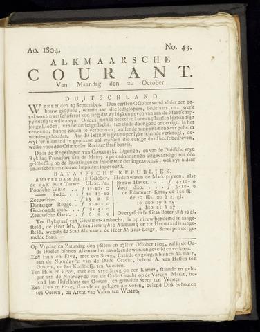 Alkmaarsche Courant 1804-10-22