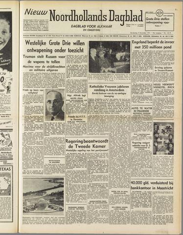 Nieuw Noordhollandsch Dagblad : voor Alkmaar en omgeving 1951-11-08