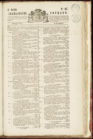 Alkmaarsche Courant 1849-11-06