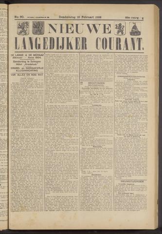 Nieuwe Langedijker Courant 1923-02-15