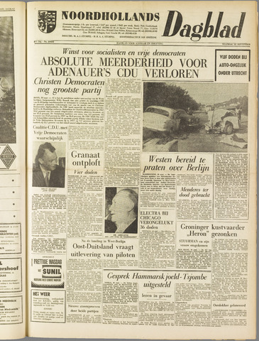 Noordhollands Dagblad : dagblad voor Alkmaar en omgeving 1961-09-18