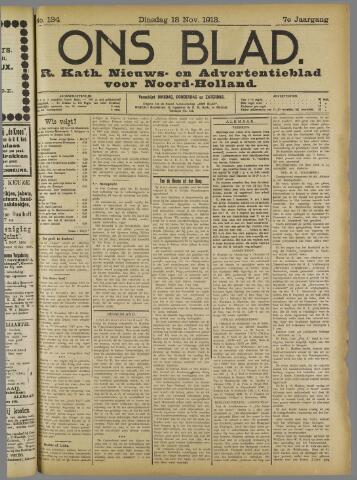 Ons Blad : katholiek nieuwsblad voor N-H 1913-11-18