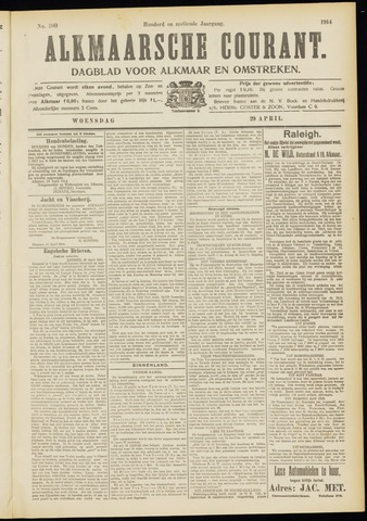 Alkmaarsche Courant 1914-04-29