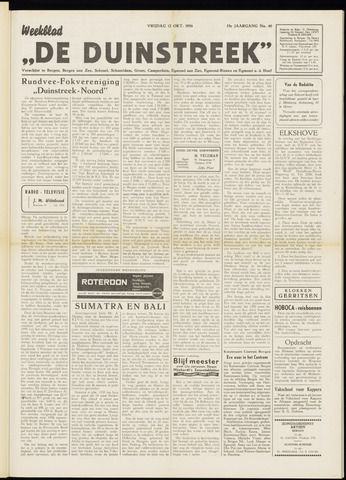 De Duinstreek 1956-10-12