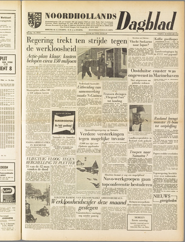 Noordhollands Dagblad : dagblad voor Alkmaar en omgeving 1958-02-28