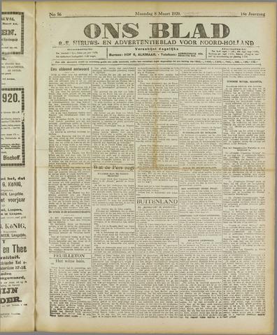 Ons Blad : katholiek nieuwsblad voor N-H 1920-03-08