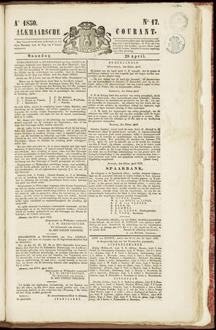 Alkmaarsche Courant 1850-04-29