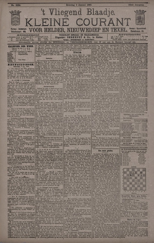 Vliegend blaadje : nieuws- en advertentiebode voor Den Helder 1895-01-05