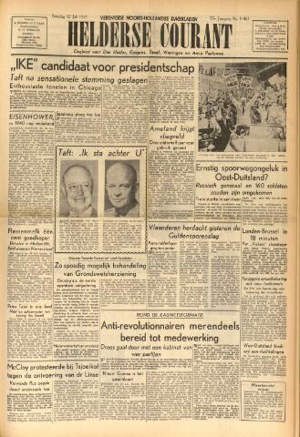 Heldersche Courant 1952-07-12