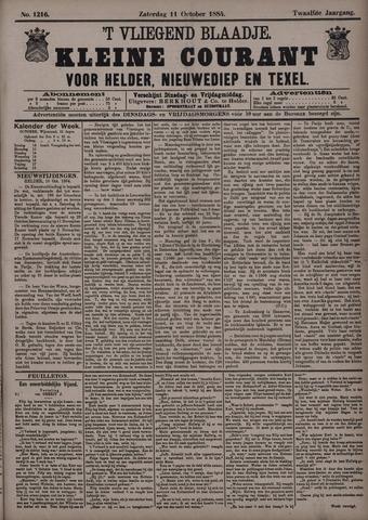 Vliegend blaadje : nieuws- en advertentiebode voor Den Helder 1884-10-11