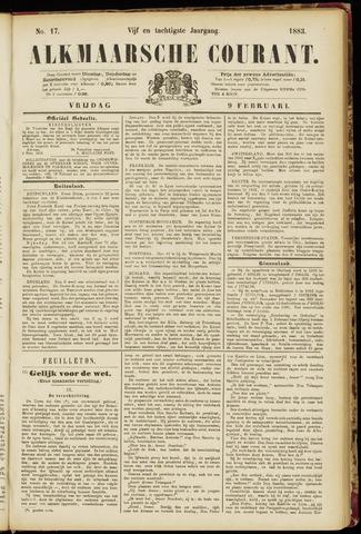 Alkmaarsche Courant 1883-02-09