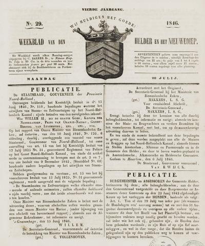 Weekblad van Den Helder en het Nieuwediep 1846-07-20