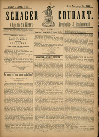 Schager Courant 1888-04-01