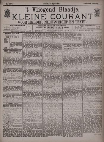 Vliegend blaadje : nieuws- en advertentiebode voor Den Helder 1886-04-03