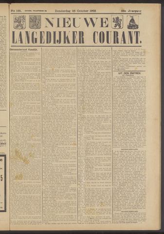 Nieuwe Langedijker Courant 1923-10-25