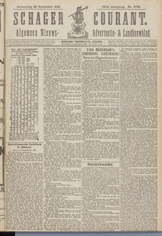 Schager Courant 1920-11-25
