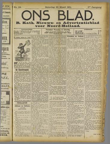 Ons Blad : katholiek nieuwsblad voor N-H 1911-03-25