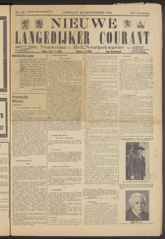 Nieuwe Langedijker Courant 1933-09-26