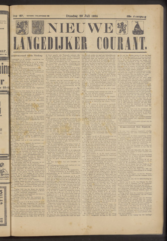 Nieuwe Langedijker Courant 1924-07-29
