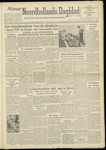 Nieuw Noordhollandsch Dagblad : voor Alkmaar en omgeving 1948-10-19