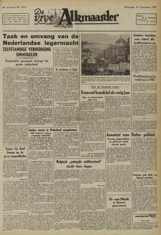 De Vrije Alkmaarder 1947-09-24