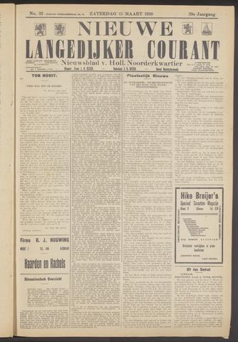 Nieuwe Langedijker Courant 1930-03-15