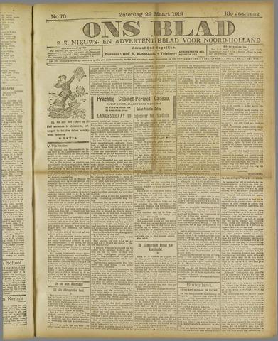 Ons Blad : katholiek nieuwsblad voor N-H 1919-03-29