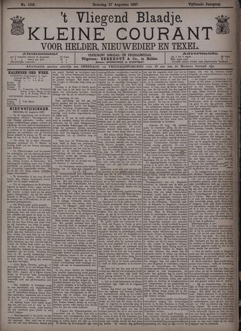 Vliegend blaadje : nieuws- en advertentiebode voor Den Helder 1887-08-27