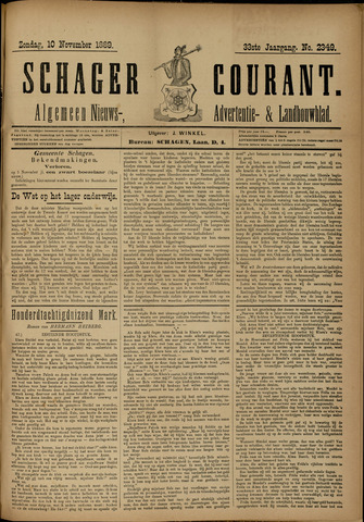 Schager Courant 1889-11-10