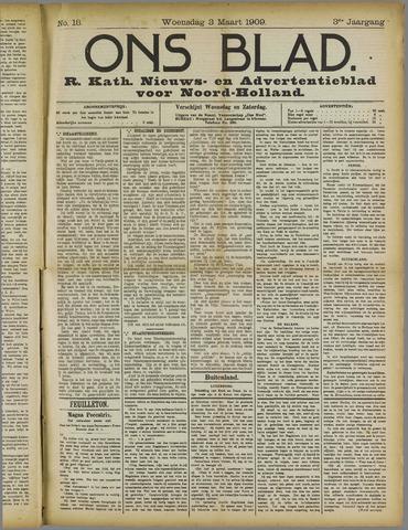 Ons Blad : katholiek nieuwsblad voor N-H 1909-03-03