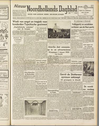 Nieuw Noordhollandsch Dagblad : voor Alkmaar en omgeving 1949-10-10