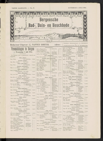Bergensche bad-, duin- en boschbode 1914-07-04