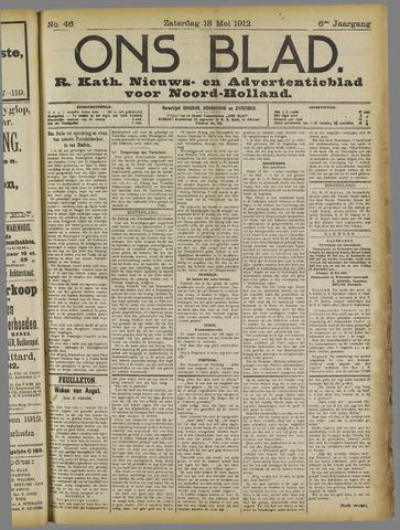 Ons Blad : katholiek nieuwsblad voor N-H 1912-05-18