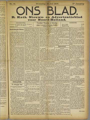 Ons Blad : katholiek nieuwsblad voor N-H 1908-07-29