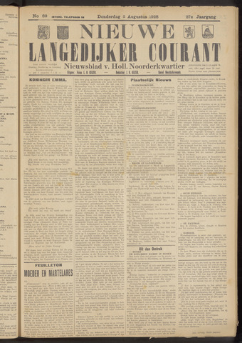 Nieuwe Langedijker Courant 1928-08-02