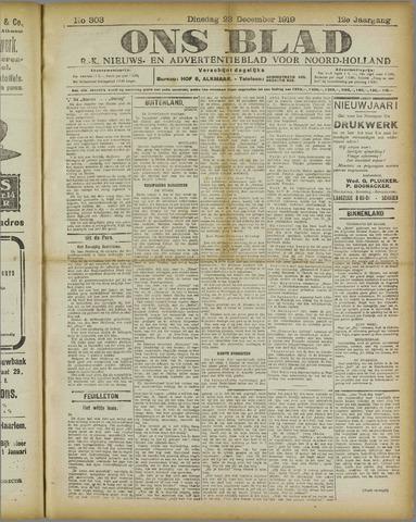 Ons Blad : katholiek nieuwsblad voor N-H 1919-12-23