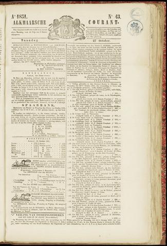 Alkmaarsche Courant 1851-10-27