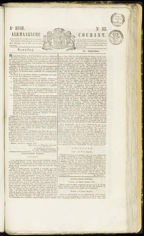 Alkmaarsche Courant 1841-08-30