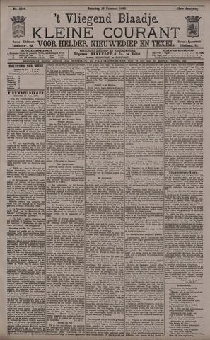 Vliegend blaadje : nieuws- en advertentiebode voor Den Helder 1895-02-16