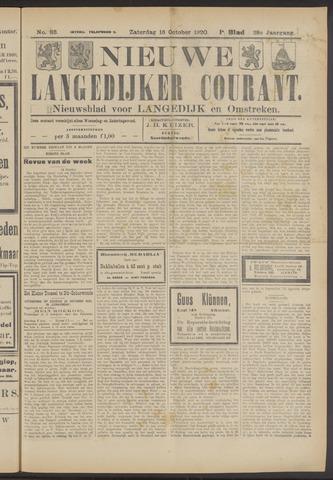 Nieuwe Langedijker Courant 1920-10-16