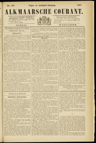 Alkmaarsche Courant 1887-11-20