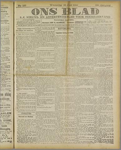 Ons Blad : katholiek nieuwsblad voor N-H 1919-06-18