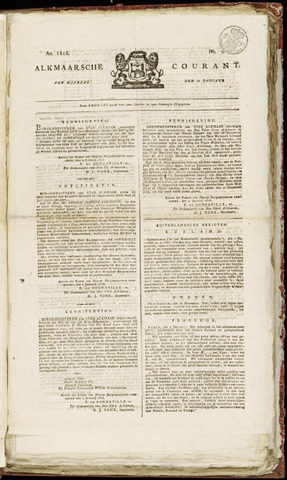 Alkmaarsche Courant 1818-01-12