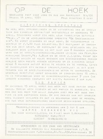 Op De Hoek, weekblad voor Akersloot 1961-04-14