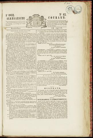 Alkmaarsche Courant 1852-04-12