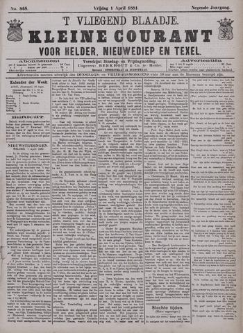 Vliegend blaadje : nieuws- en advertentiebode voor Den Helder 1881-04-01