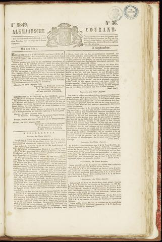 Alkmaarsche Courant 1849-09-03