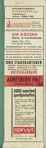 Adresboek van Alkmaar 1968-01-01