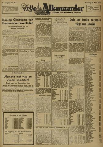 De Vrije Alkmaarder 1947-04-21